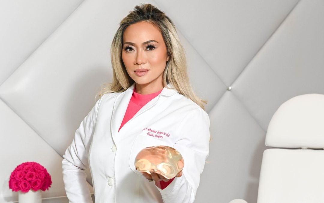 Dr. Cat Showing Breast Implant